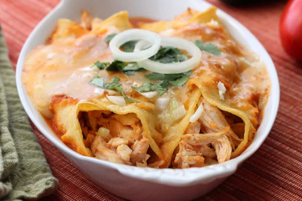 Turkey enchiladas - baked to perfection