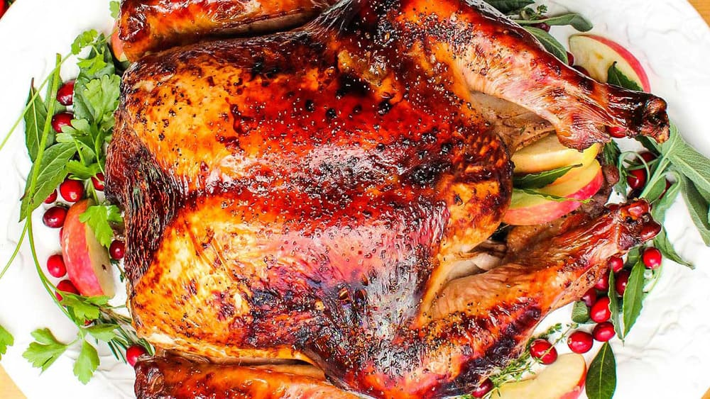 The perfect turkey on a Thanksgiving table