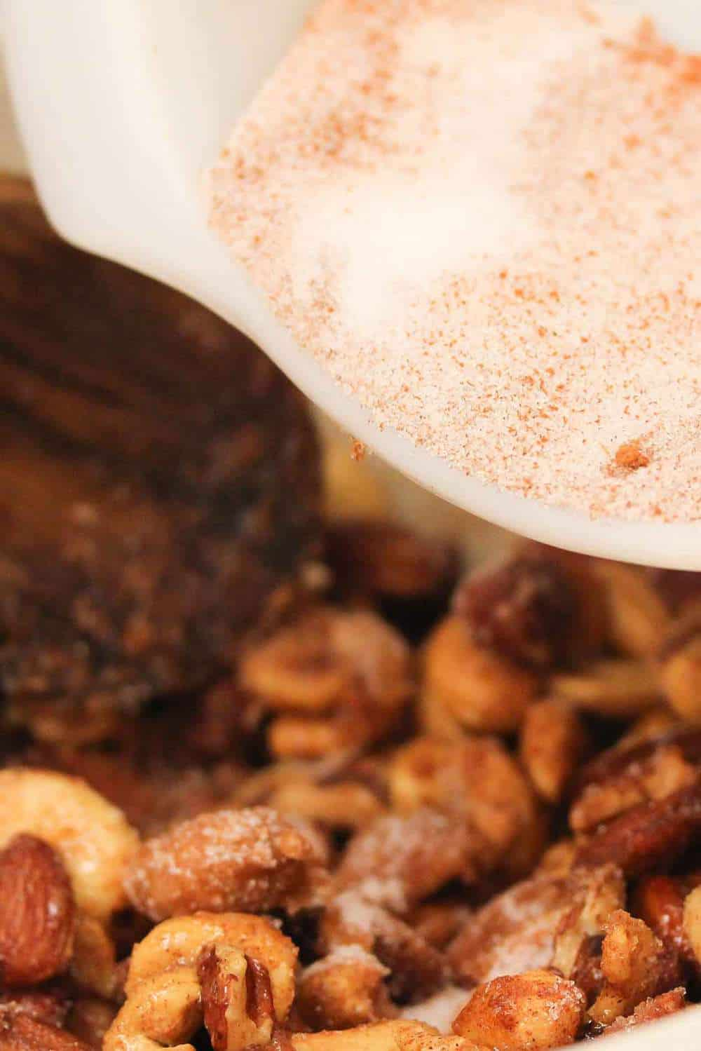 Naughty and Nice Spiced Nuts