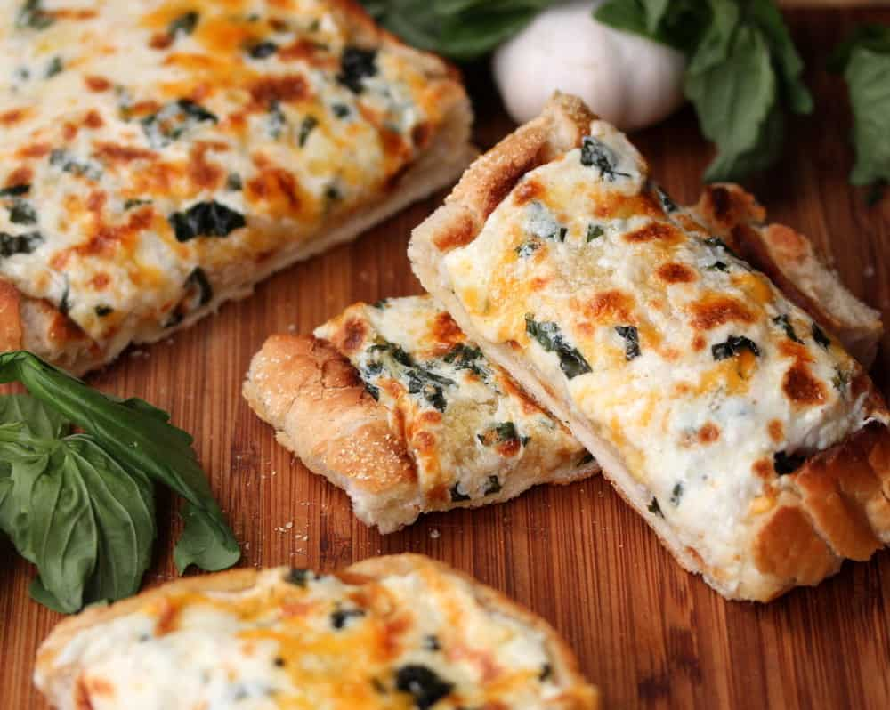 Easy cheesy toasted garlic bread