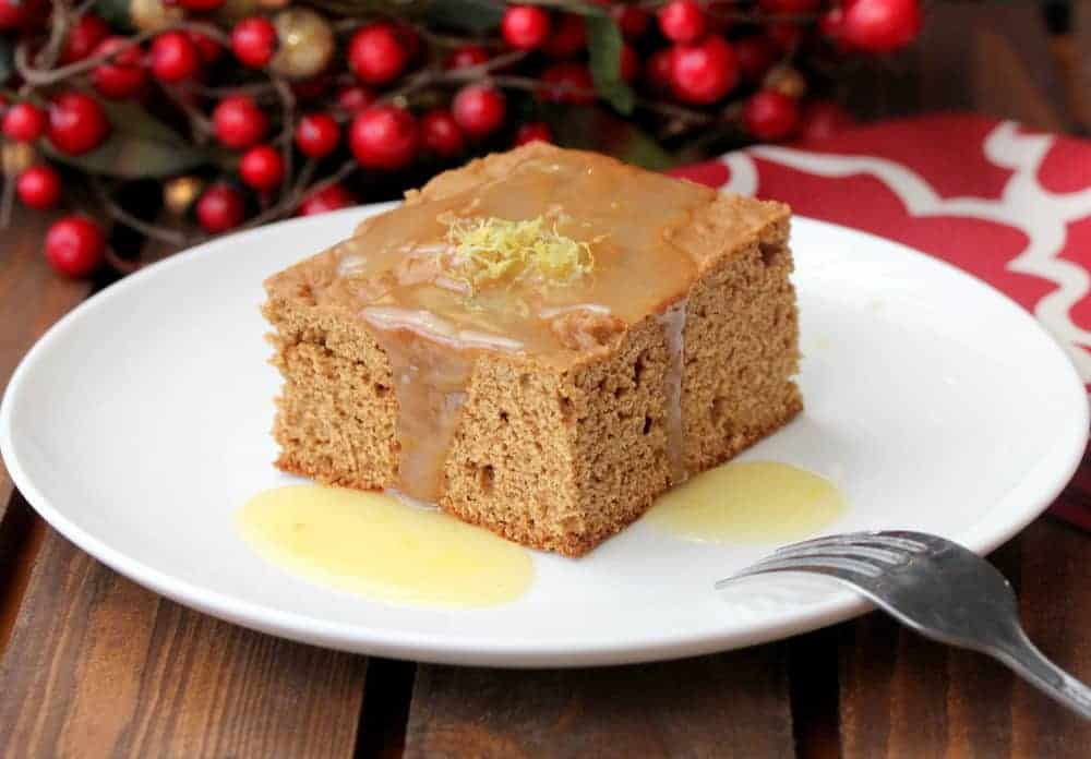 Christmas Gingerbread with Lemon Sauce