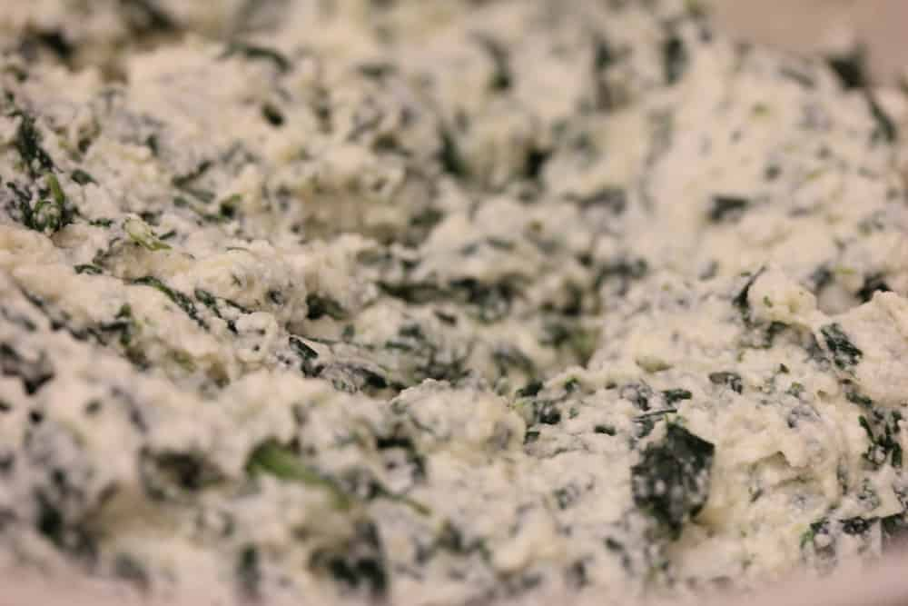 This spinach, ricotta and Parmigiano-Reggiano is what it's all about