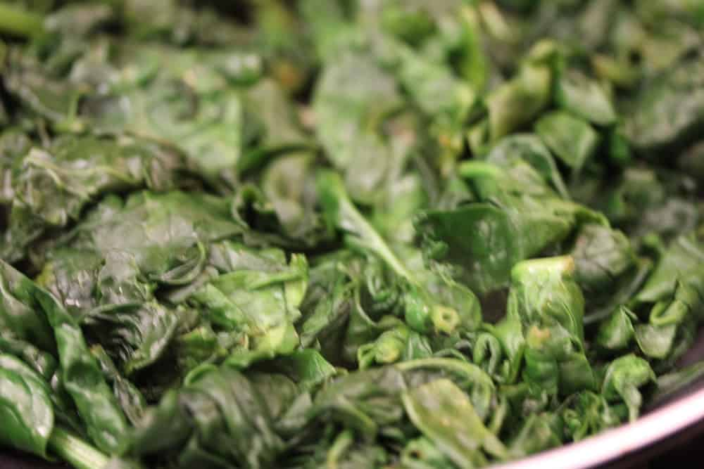 Wilting your spinach is quick and easy