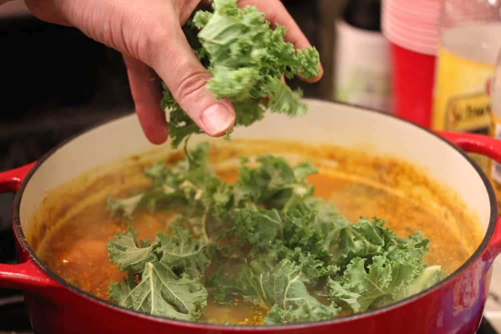 Fresh kale brings it home!