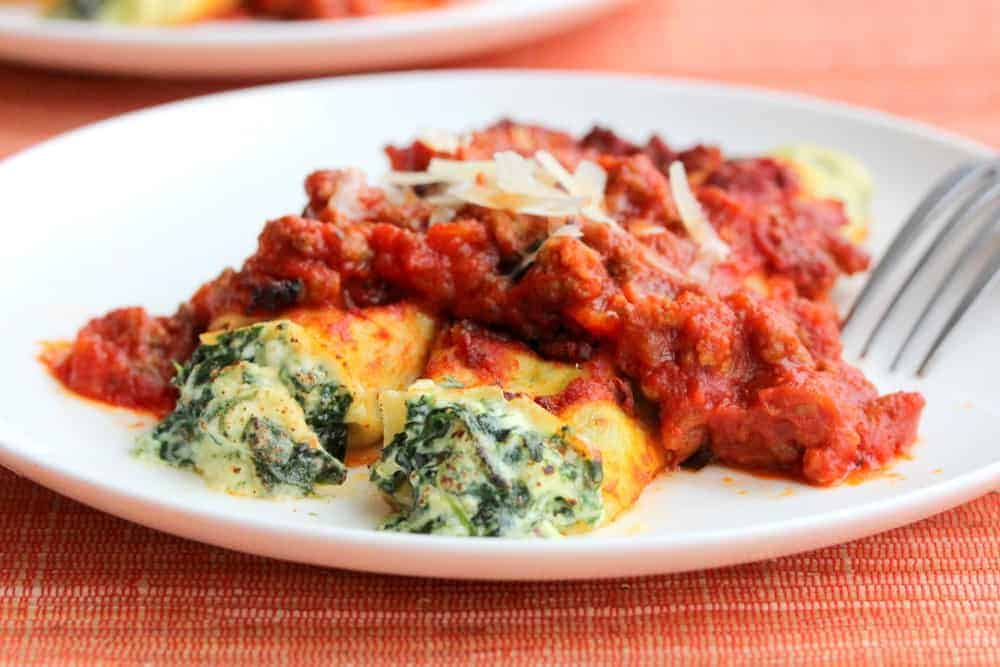 Spinach and Cheese Cannelloni - How To Feed A Loon