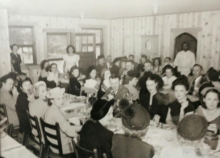 Joe T's back room in 1935