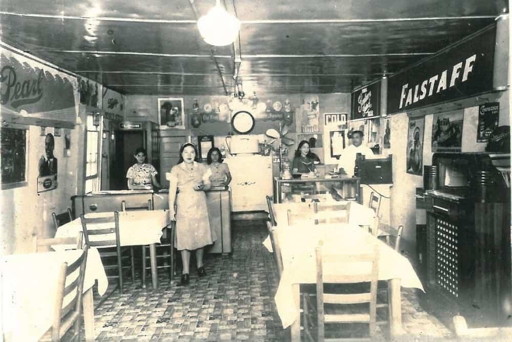 The front room of Joe T Garcia's in 1935.