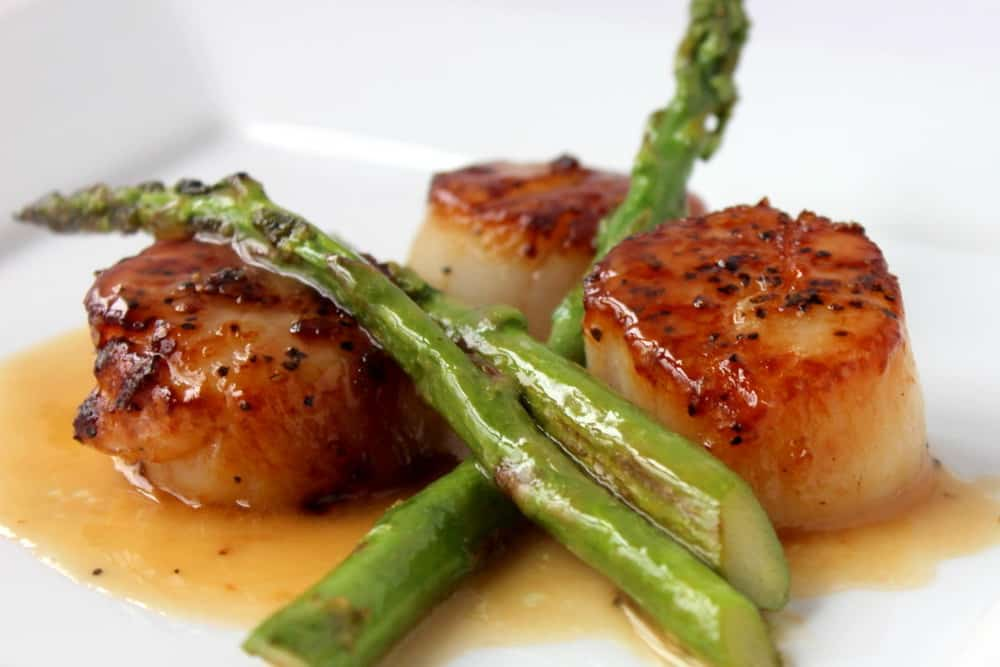 Maine Sea Scallops In Black Tie Recipe — Dishmaps