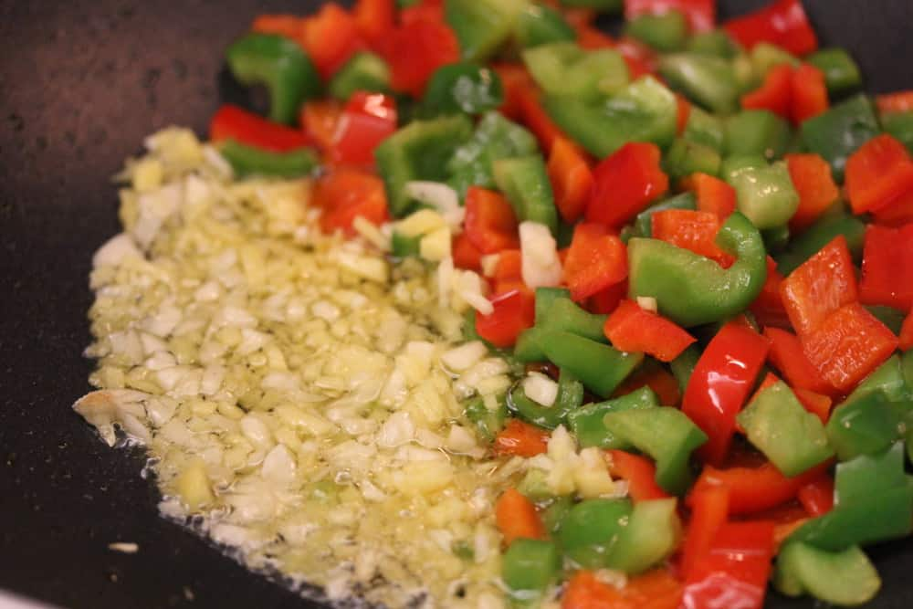 Garlic, ginger and peppers are just so right