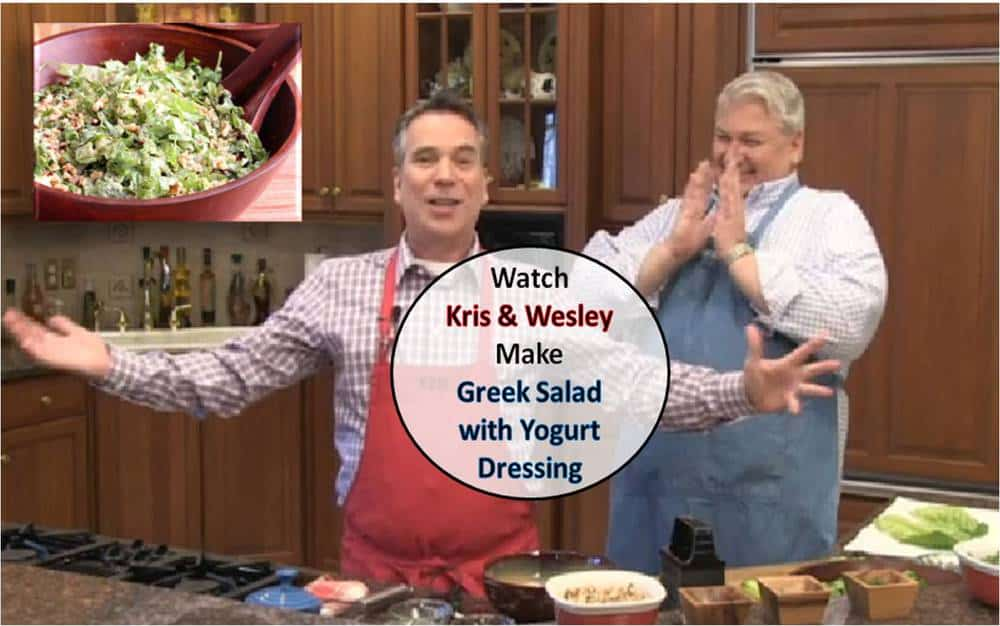 Watch Kris & Wesley make Greek Salad with Greek Yogurt