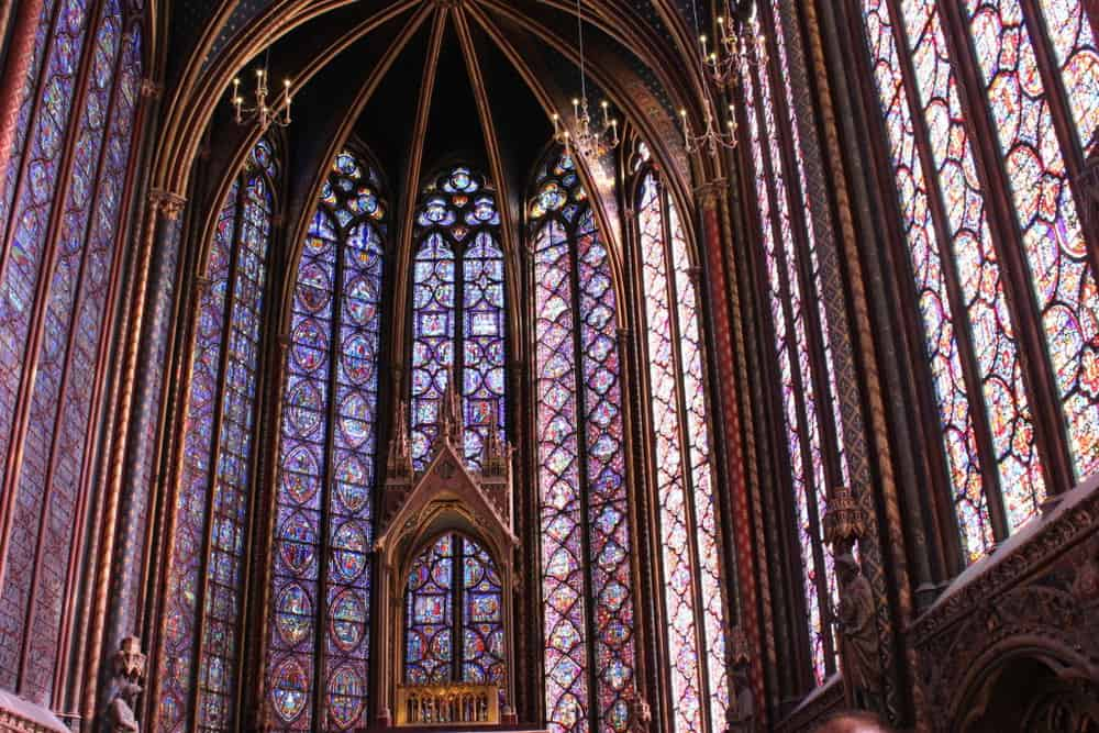 The altar inside St. Chapelle. Built in 13th Century. Absolutely incredible.