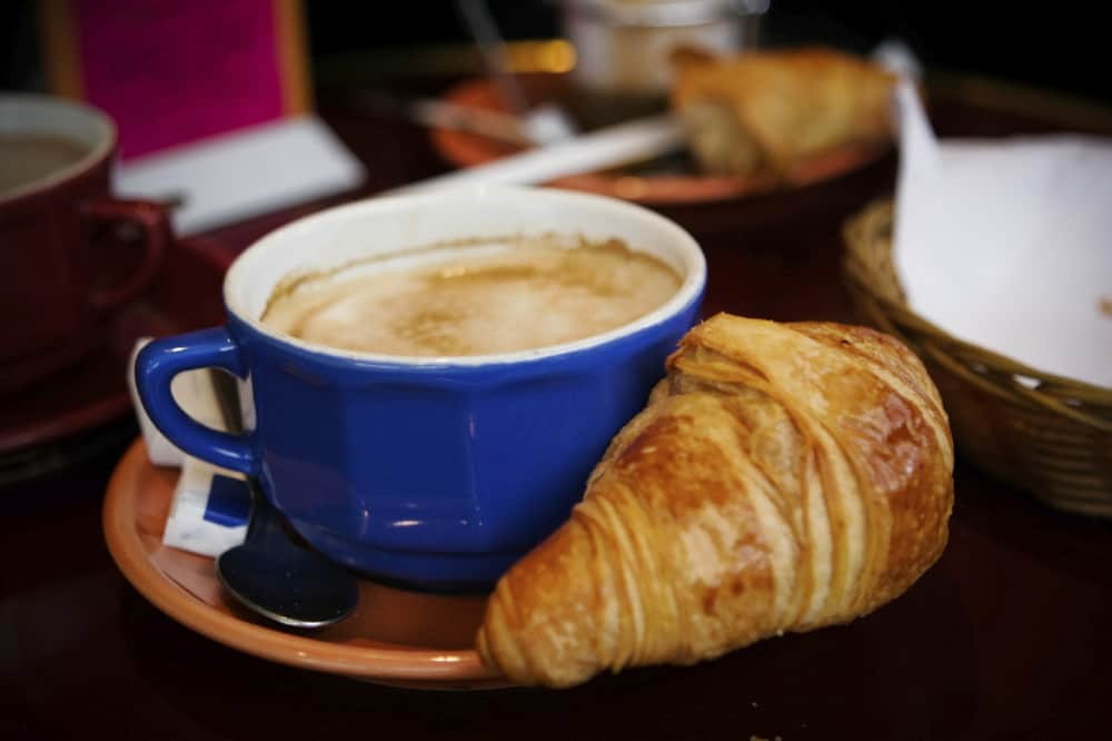 Paris coffee and croissant