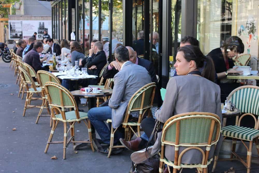 Paris people at cafe