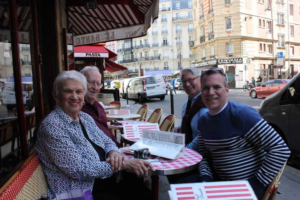 A lovely lunch at wonderful Parisian brasserie with Mom and Dad!