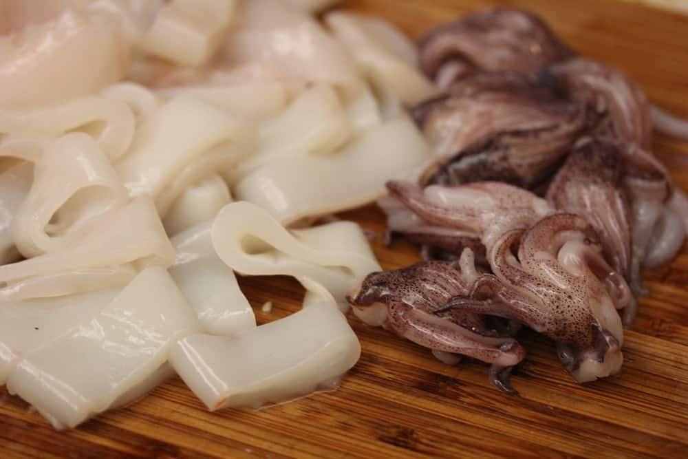 Squid cut and ready to go