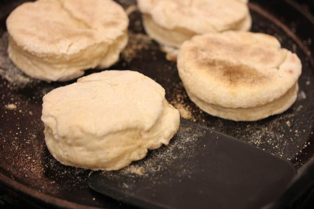 Cook 'em up on a griddle/skillet before baking in the oven
