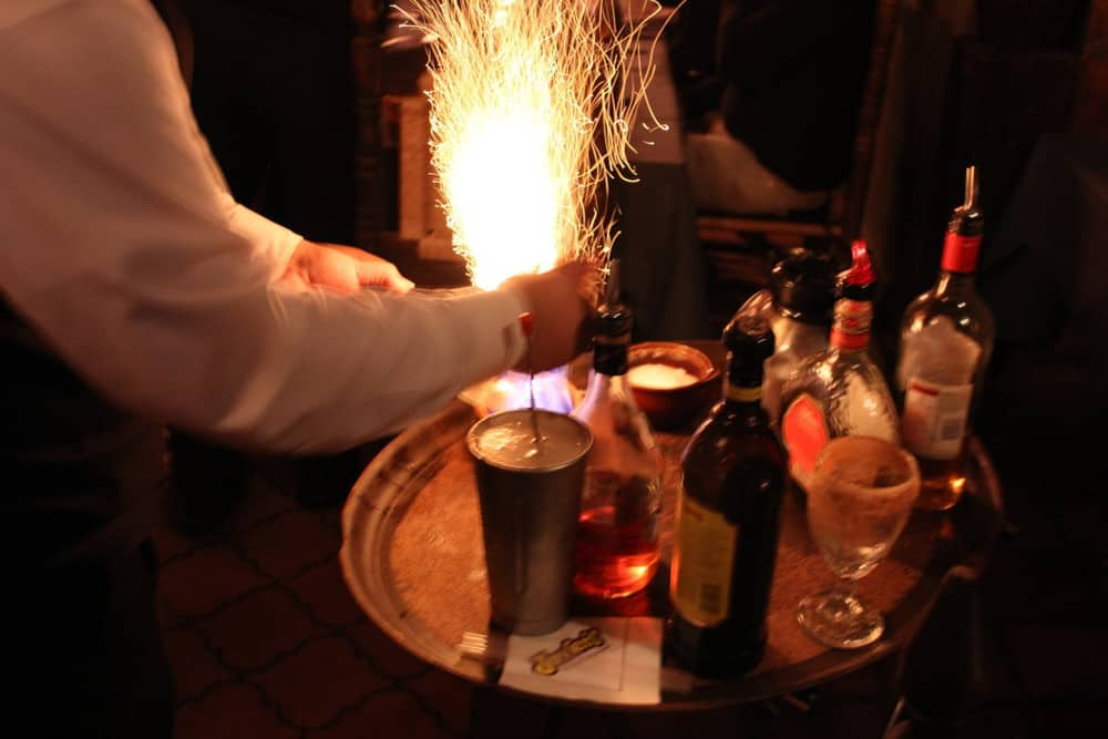 Sparks are flying table-side!