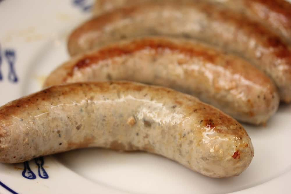 Sausage cooked to juicy perfection
