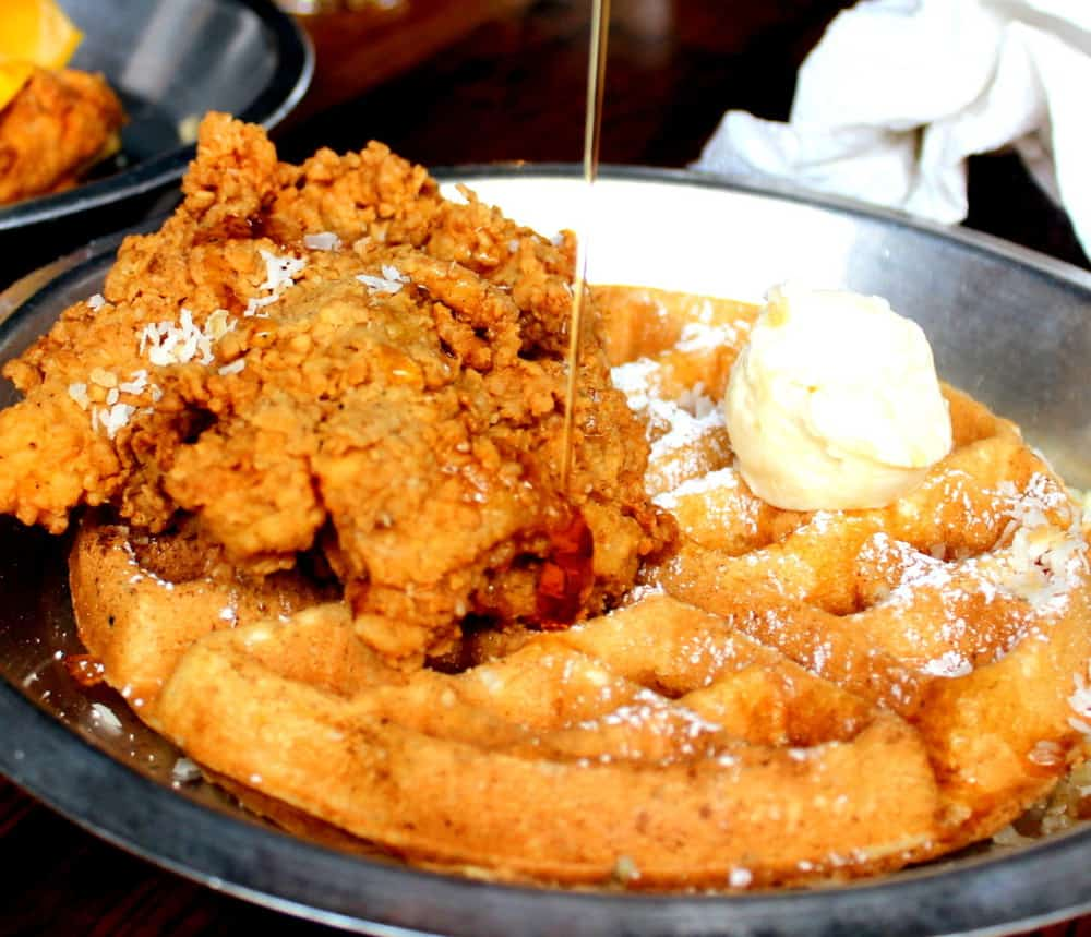 Scratch Chicken and Coconut Waffles...oh yeah!