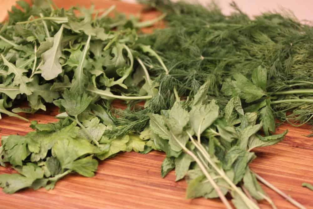 Arugula and fresh herbs make this salad sing!