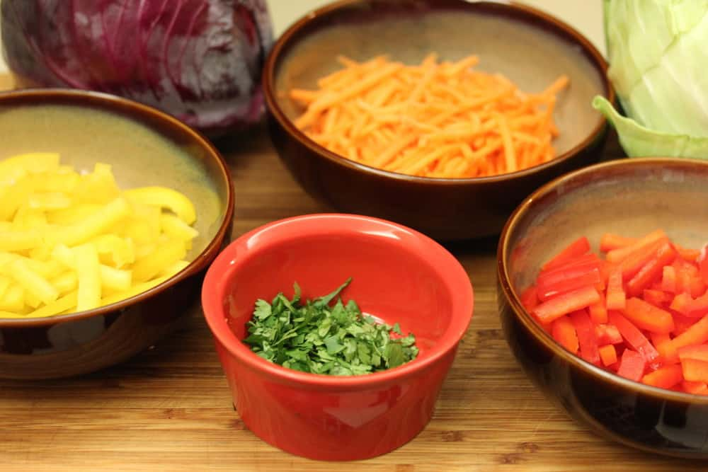 Fresh veggies bring this slaw to life!