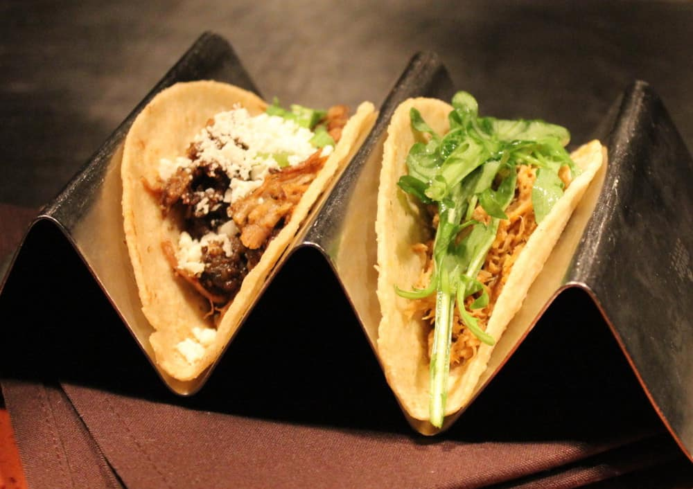 Tacos range from brisket, to fried oyster, to pork belly, to mushroom, to 'catch of the day'