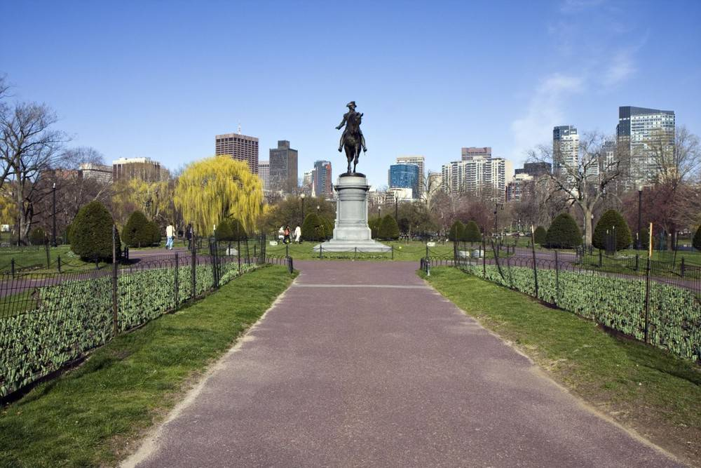 George Washington Statue in historic Boston Common