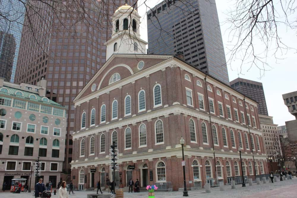 Faneuil Hall served as a marketplace and meeting hall since 1742