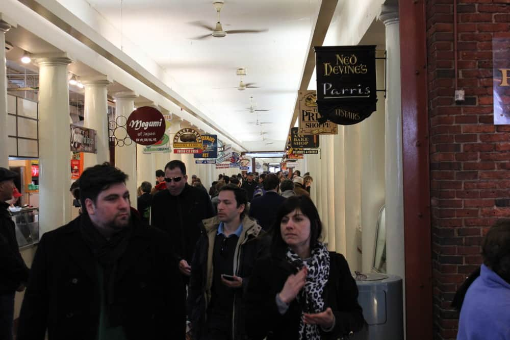Quincy Market, bustling with customers for centuries