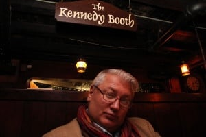 The Loon dining in The Kennedy Booth