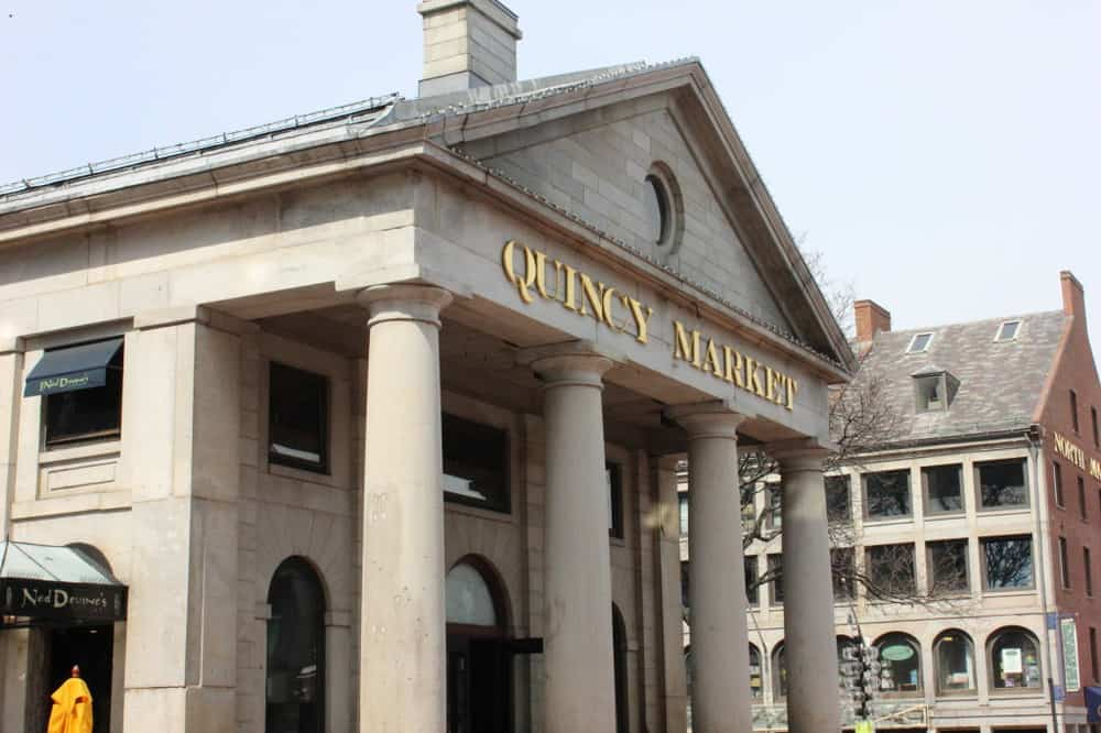 The historic Boston Quincy Market