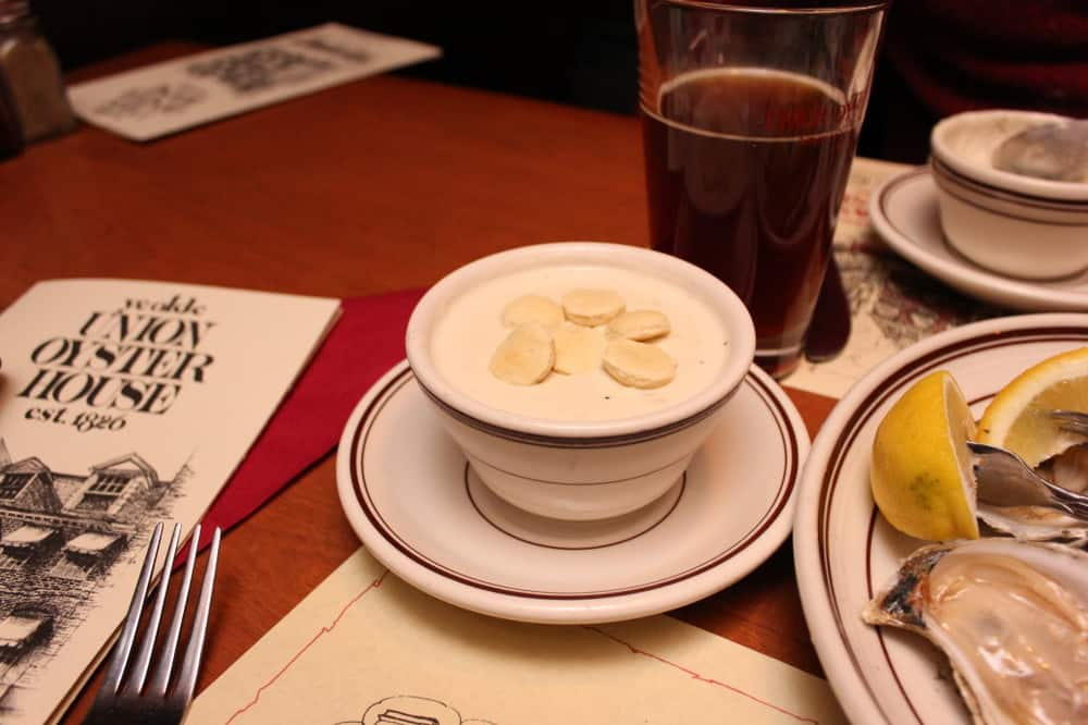 We love their New England Clam Chowder!