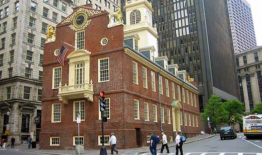 The Old State House, the oldest building in Boston