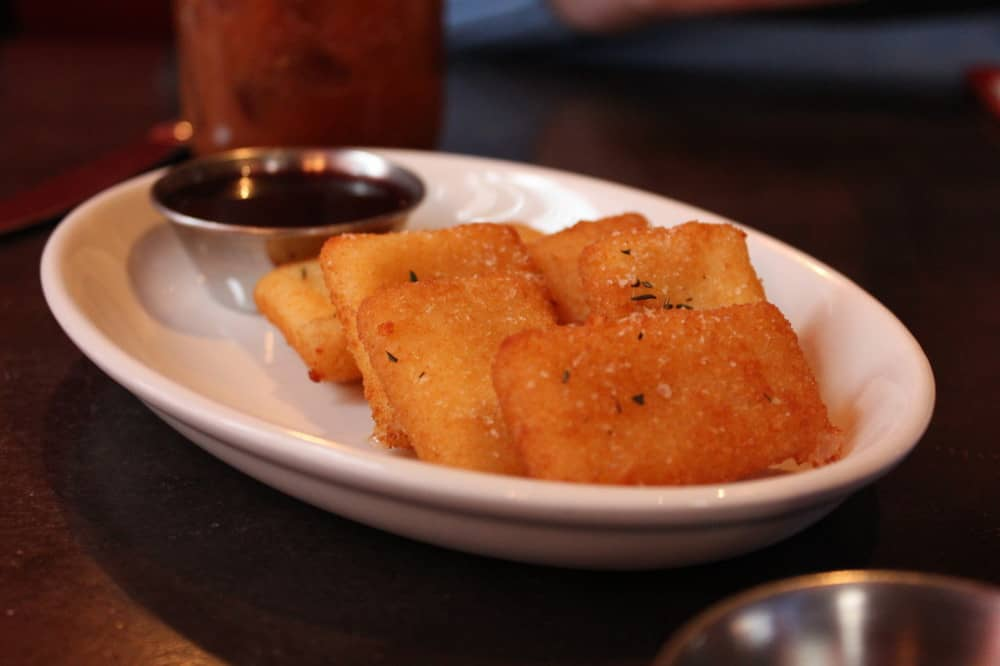 Incredible fried Manchego cheese
