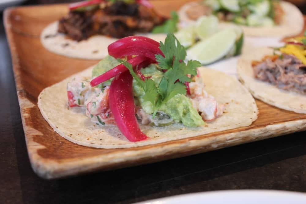 Lobster and avocado taco
