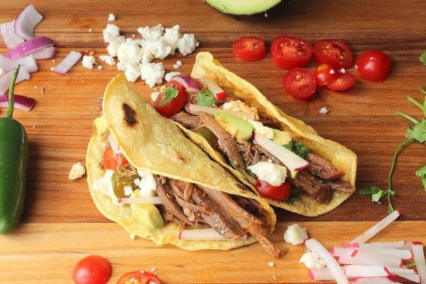 Brisket and Chipotle Tacos