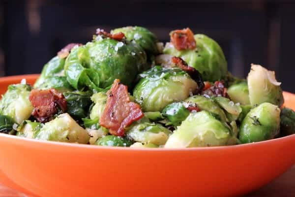 Brussels Sprouts, Bacon and Sherry Vinaigrette