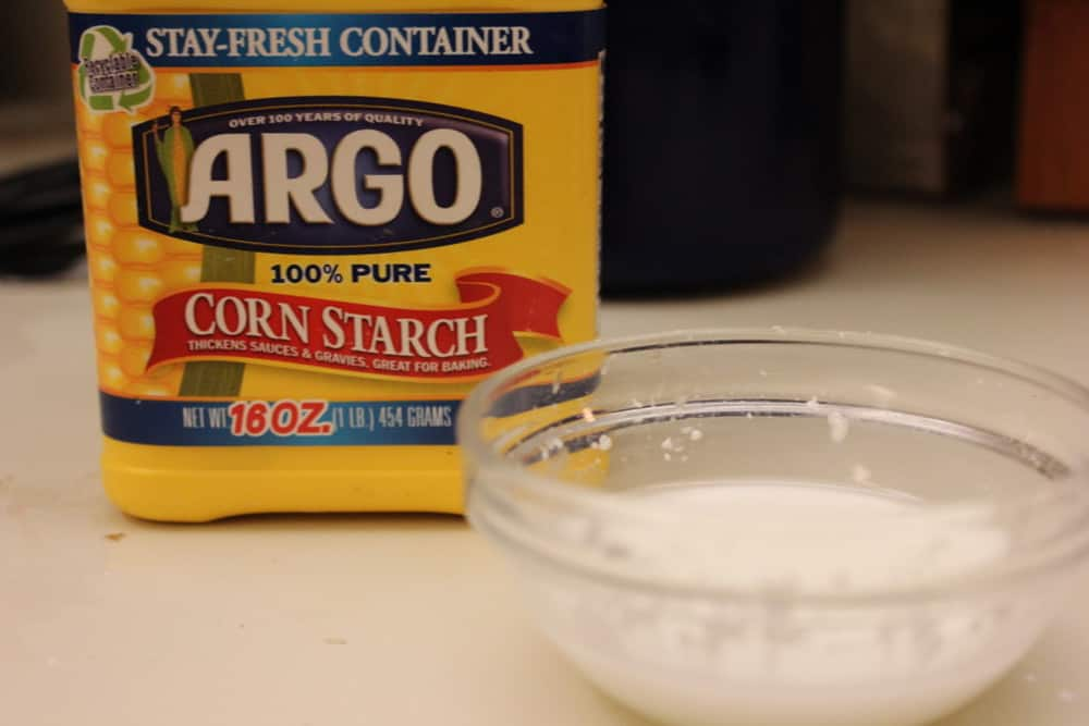Corn starch slurry thickens it up a bit