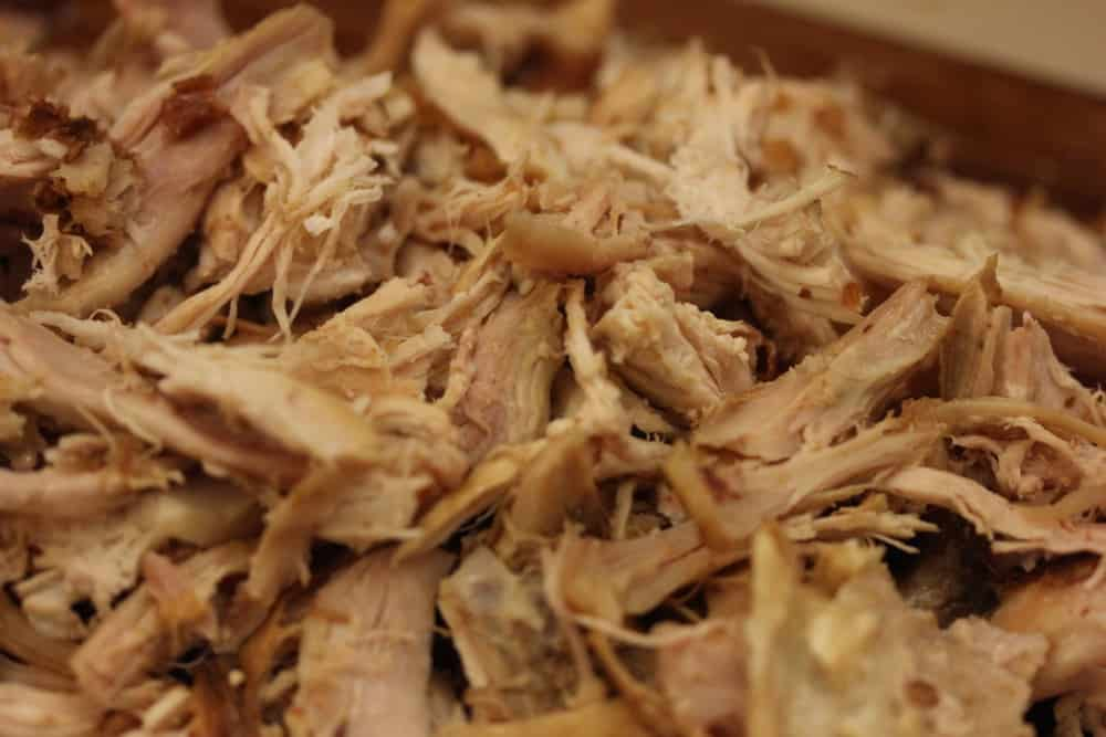Shredding pre-roasted chicken is easy!