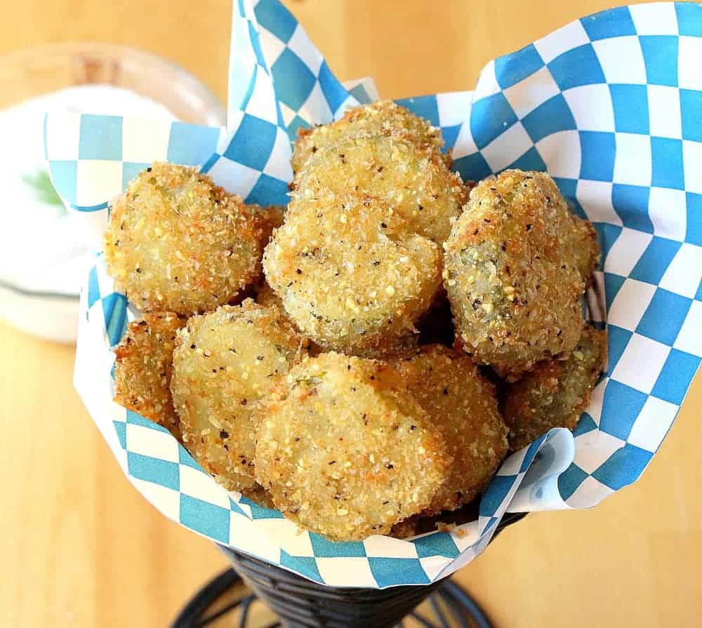 Fried pickles with Ranch!