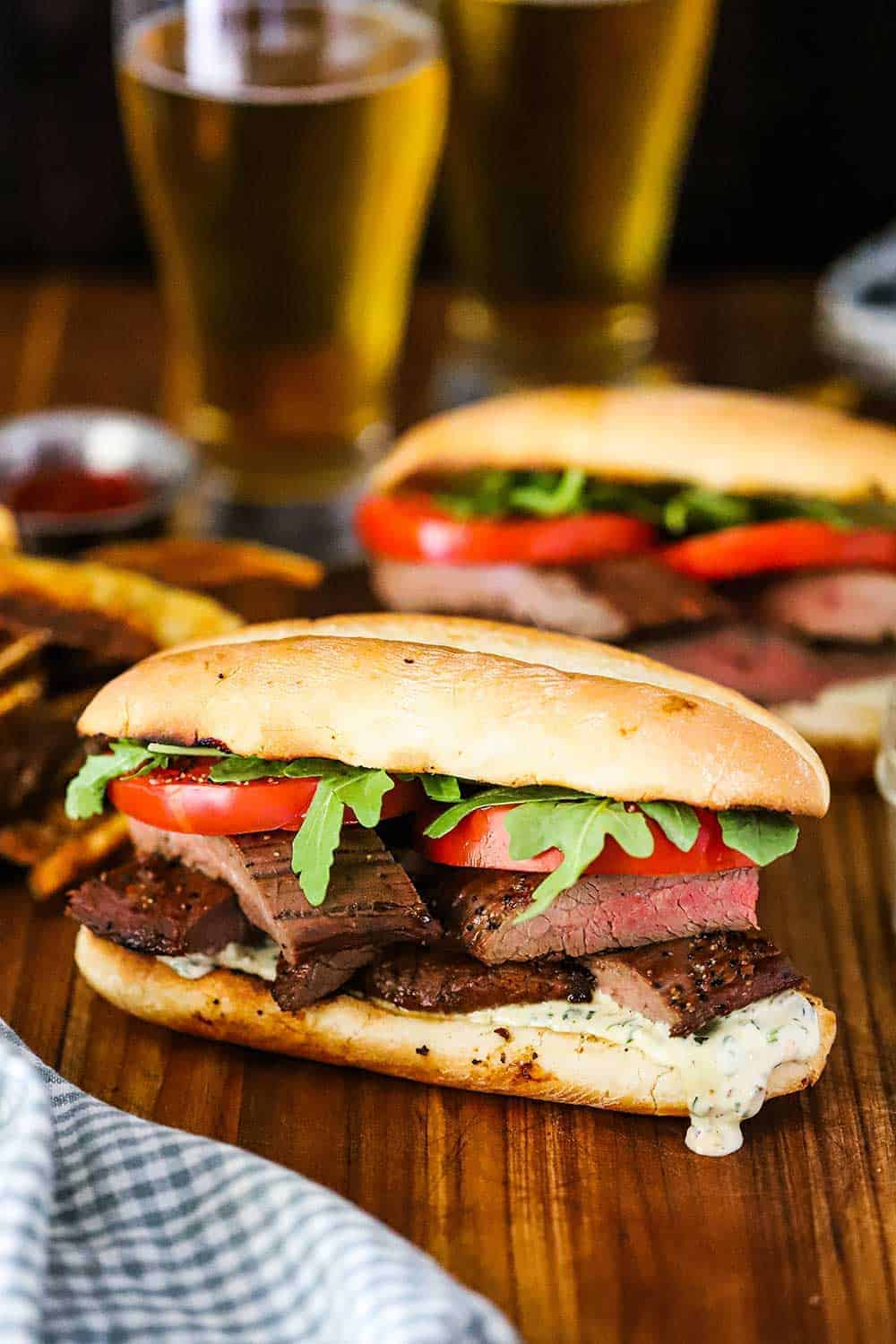 Marinated Grilled Steak Sandwich