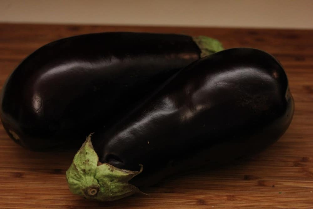 It all starts with beautiful eggplant