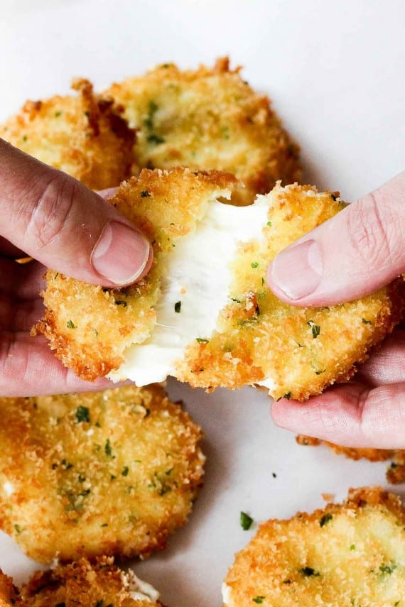 This classic fried cheese is so gooey and delicious