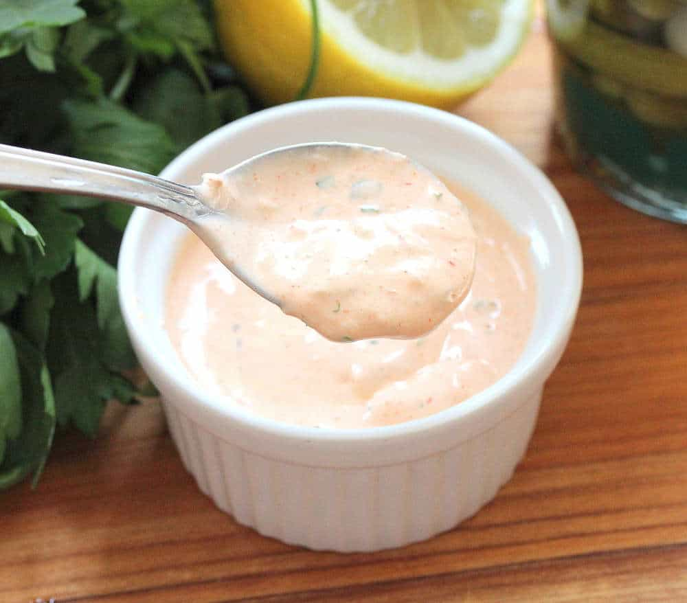 Homemade Russian Dressing tops it off!
