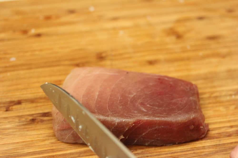 Sashimi-grade tuna is very nice
