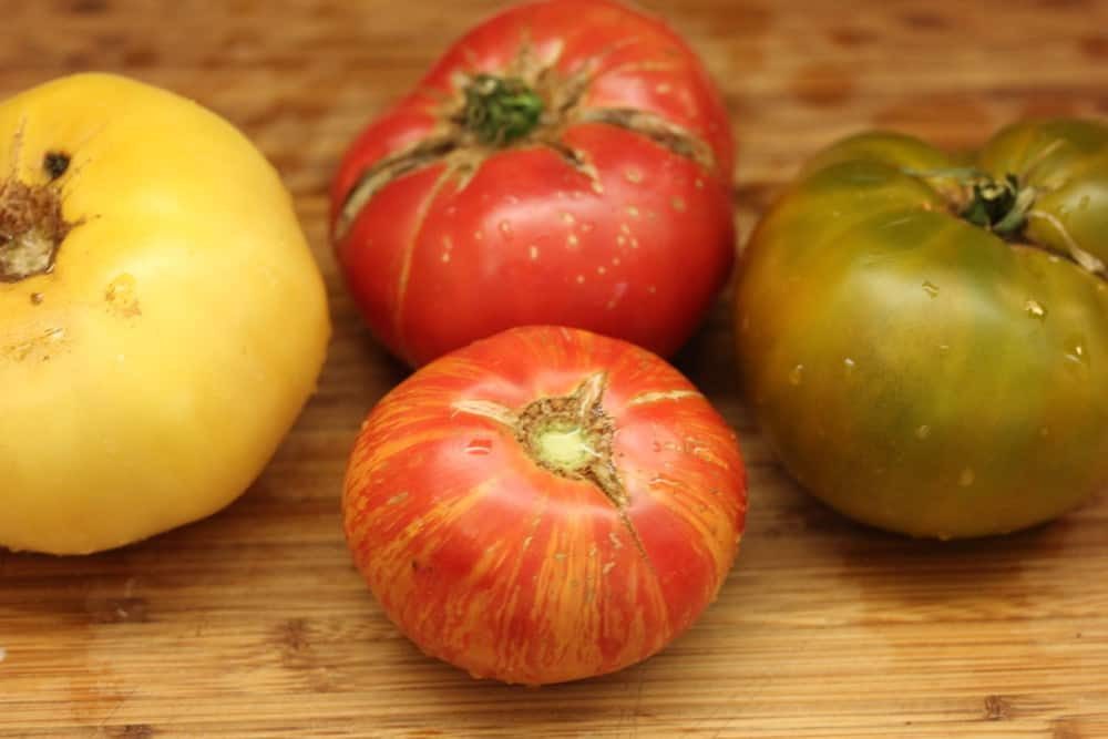 A variety of farm-fresh tomatoes is good