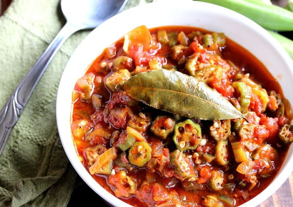 Stewed Okra with Tomatoes