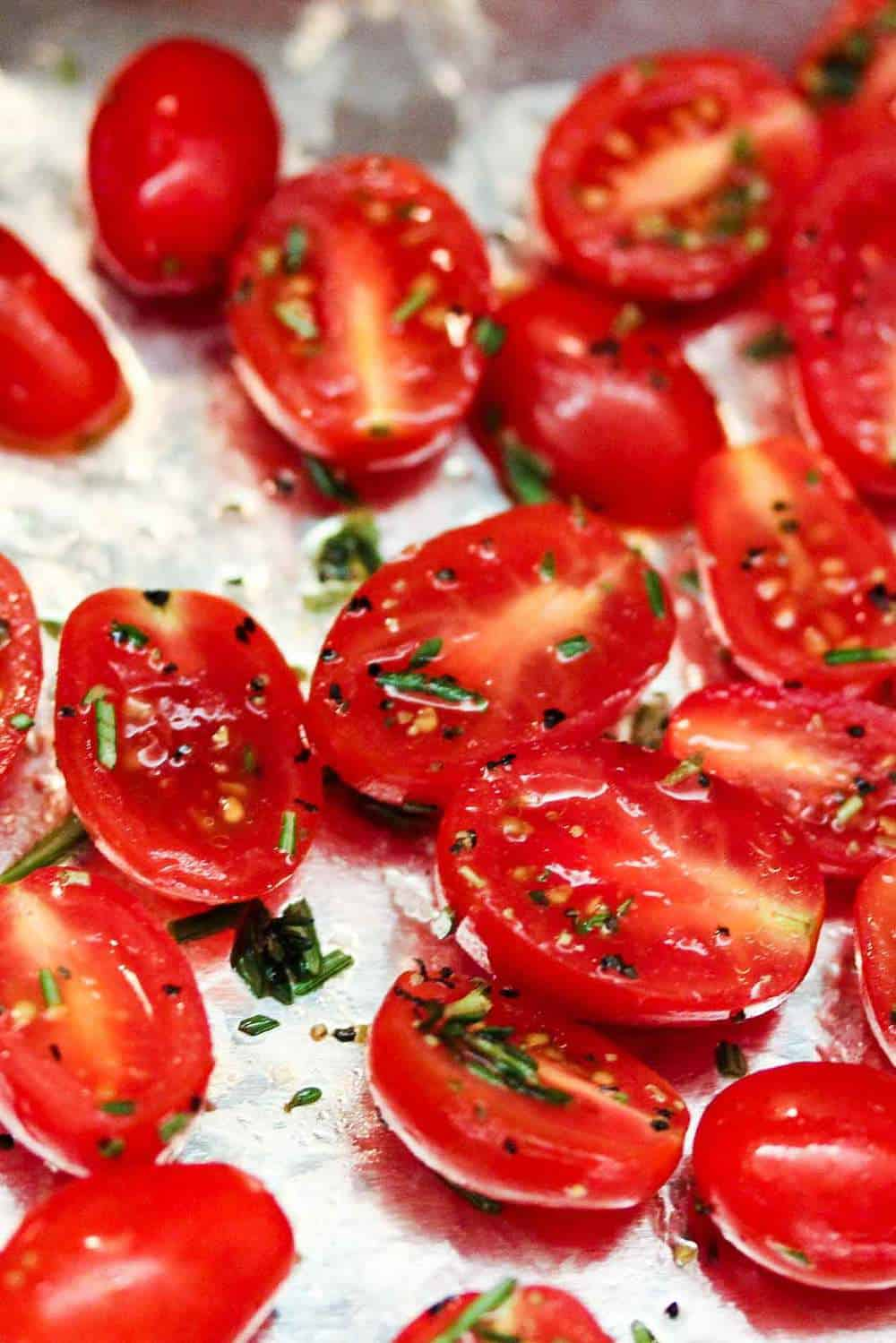 Roasted tomatoes with herb de Provence