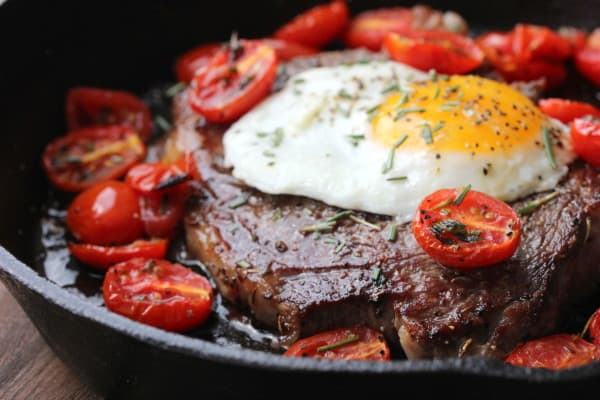 steaks and eggs feature