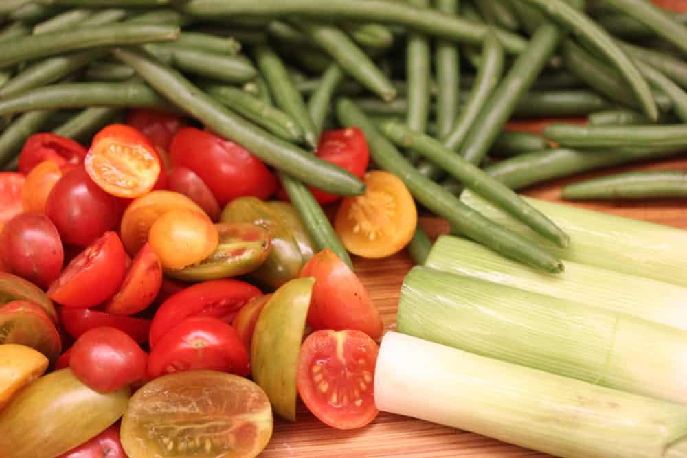 Farm fresh ingredients are so good!